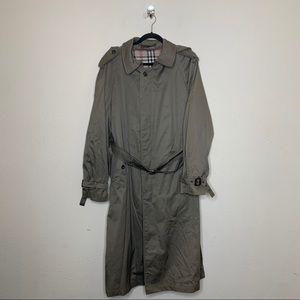 VTG Alberto Peruzzi Brown Trench Coat Jacket